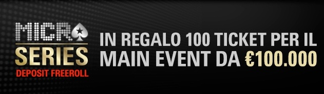 main event micro series deposit freeroll pokerstars