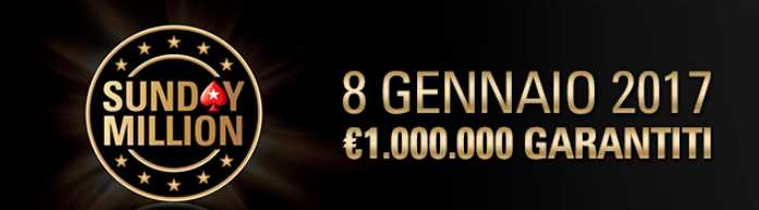 sunday million ritorna 8 gennaio 2017 pokerstars