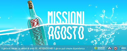Missioni di Agosto Titanbet.it Poker