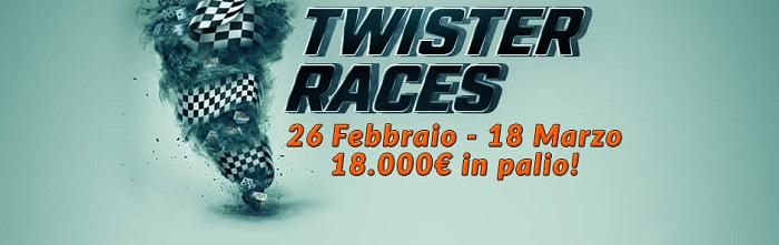 twister races eurobet poker marzo 2018