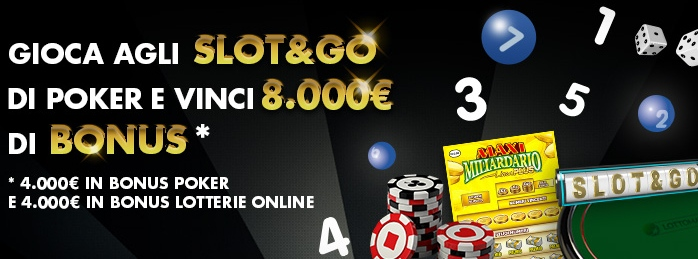 slot and go lottomatica classifiche poker lotterie