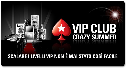 vip club crazy summer pokerstars