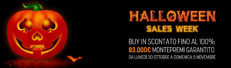 snai poker halloween sales week 2017