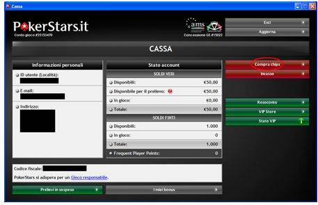 Pokerstars compra chips con Postepay