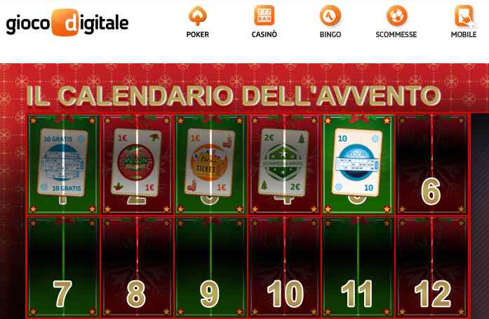 Calendario Avvento Gioco Digitale