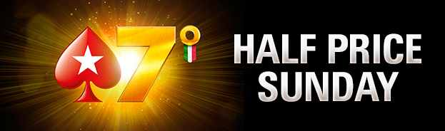 Half Price Sunday 7 Anniversario PokerStars