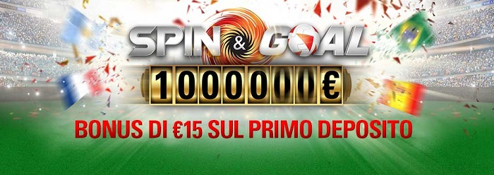 pokerstars bonus spin and goal mondiali